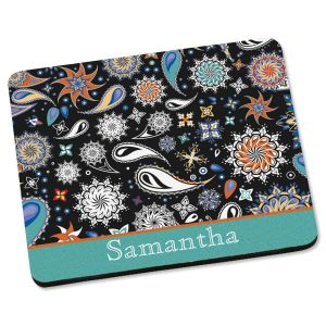 Color Paisley Mouse Pad