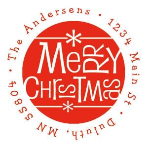 Merry Christmas Fun  Address Stamp