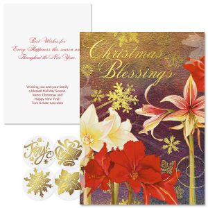 Ambiance Foil Christmas Cards -  Personalized