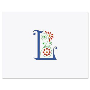 Spring Monogram Personalized Note Cards
