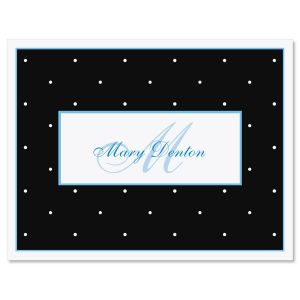Tiny Dots Personalized  Note Cards