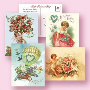 Personalized Victorian Valentine's Day  Postcards