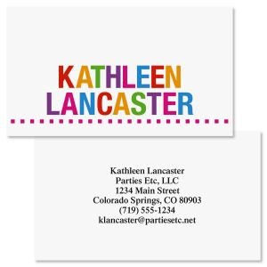 Whimsical Name  Double-Sided  Business Cards