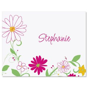 Fresh Breeze Personalized Note Cards