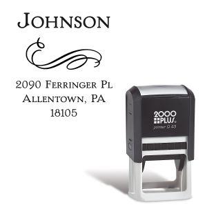 Filigree Name-Square Stamp