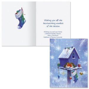 Welcome Home Note Card Size Christmas Cards