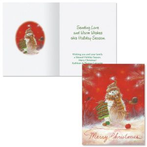 Handmade Happiness Note Card Size Christmas Cards