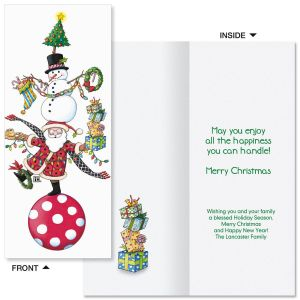 Christmas Circus Slimline Holiday Cards