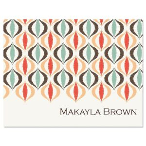 Ikat Personalized Note Cards