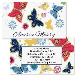 Delicate Butterflies Double-Sided  Business Cards