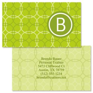 Trendy Monogram  Double-Sided Business Cards
