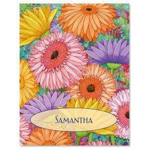 Pastel Gerber Daisies Personalized  Note Cards