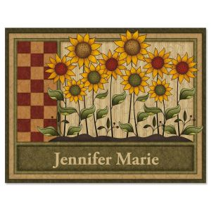 Angela's Sunflowers Personalized Note Cards