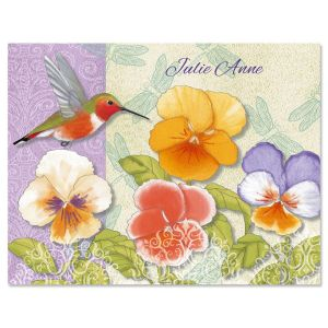 Belle Fleur Personalized Note Cards