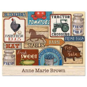 Farm Fresh Personalized Note Cards