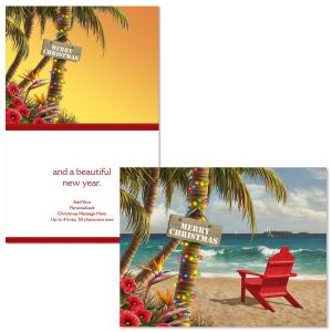 Christmas Paradise Note Card Size Christmas Cards