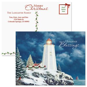 Christmas Light Postcards