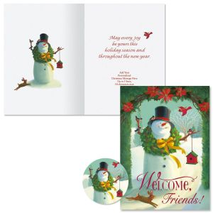 Welcome Snowman Christmas Cards