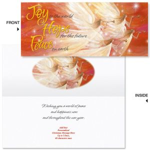 Hark the Angels  Slimline Holiday Cards