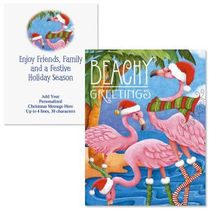 Beachy Greetings  Note Card Size Christmas Cards
