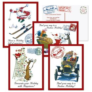 Santa Wishes Christmas Postcards