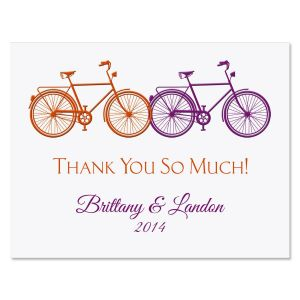 Just Married Personalized Note Cards
