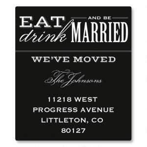 Eat, Drink, Be Married Canning Label - Small