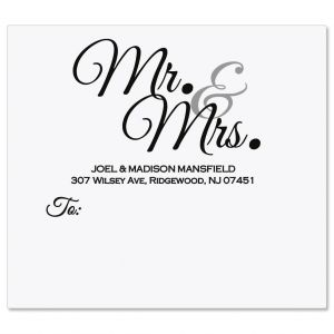 Mr. & Mrs. Package Labels