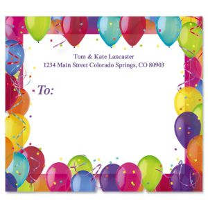 Birthday Balloons Package Labels