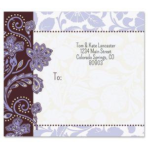 Lavender Brocade Package Labels