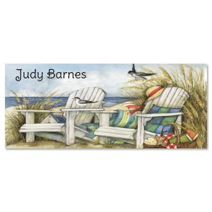 By the Beautiful Sea Slimline Personalized Note Cards