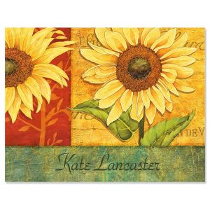 Jardin Du Soleil Personalized Note Cards