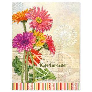 Gerbera Personalized Note Cards