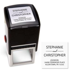 Modern Square Address Stamp