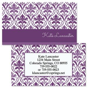 Aubergine Elegance Double-Sided Business Cards