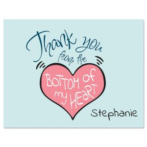 Bottom of My Heart Personalized Note Cards