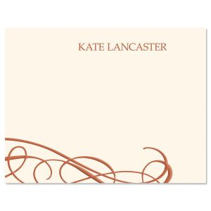 Amber Swirl Personalized Note Cards