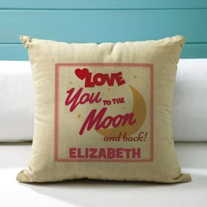 Love You to the Moon Personalized Pillow