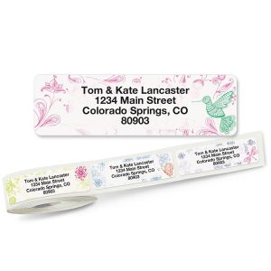 Flower Garden Rolled Return Address Labels  (5 Designs)