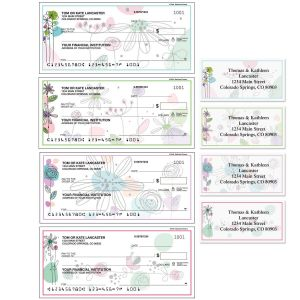 Sketched Flowers Duplicate Checks with Matching Address Labels