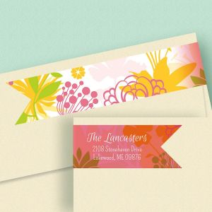 Botanical Connect Wrap Diecut Address Labels  (4 Designs)