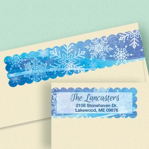 Snowflake Connect Wrap Diecut Address Labels