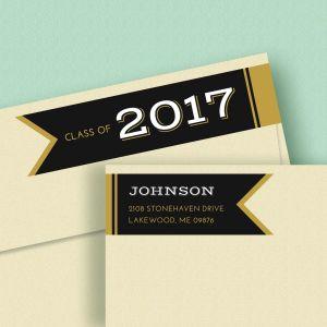 Graduation Day Connect Wrap Diecut Address Labels
