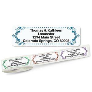 Flourish Rolled Address Labels  (5 Designs)