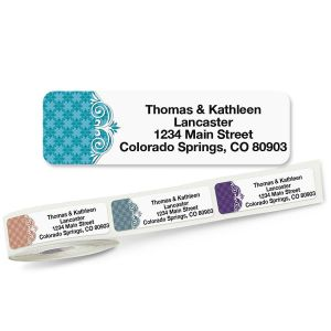 Suave Rolled Return Address Labels  (5 Designs)