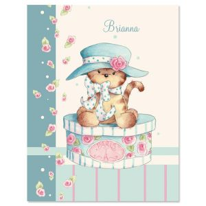Hat Box Kitten Personalized Note Cards