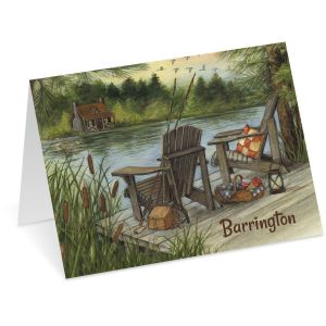 Lakeside Personalized Note Cards
