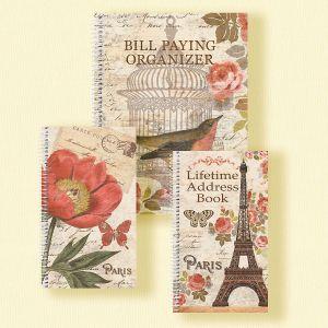 Parisian Postcard Organizer Books