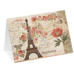 Parisian Postcard Personalized Note Cards