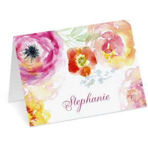 Pretty Posy Personalized Note Cards